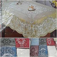 Красивая скатерть на кухонный стол, разные расцветки 140х180 см.