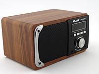 Atlanfa AT-1822bt 6W, bluetooth колонка с FM и MP3, красное дерево, черная | AG310035
