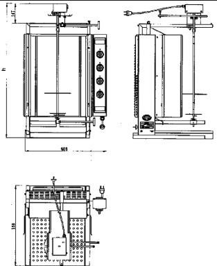 аппараты для приготовления шаурмы чертеж
