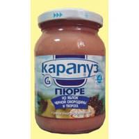 Карапуз пюре из яблок, черной смородины и творога (от 4 месяцев), 200 г