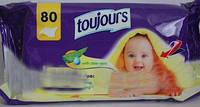 Влажные гигиенические салфетки Toujours c алоэ вера