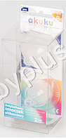 Антиколиковая соска силиконовая 0-6 месяцев (цена за комплект, 2 шт) AKUKU, пр-во Франция + (Арт. MDA-A0245)