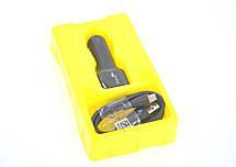 Автомобильное зарядное устройство 4you B1 (2100mAh - 100%, Long, 2 USB, Exclusive design) black + Micro, фото 2