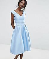 Нарядное открытое  платье