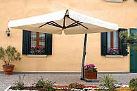 Зонт консольный для кафе и ресторанов Venere от 2*2. Ткань Acrylic gr. 320 m/q Ecru (беж.).
