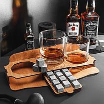 Комплект 12 камней для виски и напитков, 2 стакана Bohemia и подставка, фото 3