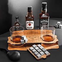 Подарочный набор: 12 камней для виски, 2 стакана Bohemia и подставка, фото 3