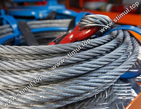 Трос оцинкованный Ø 1 мм (DIN 3052 / 1х7)   Сталеві канати оптом   Канат стальной, фото 2