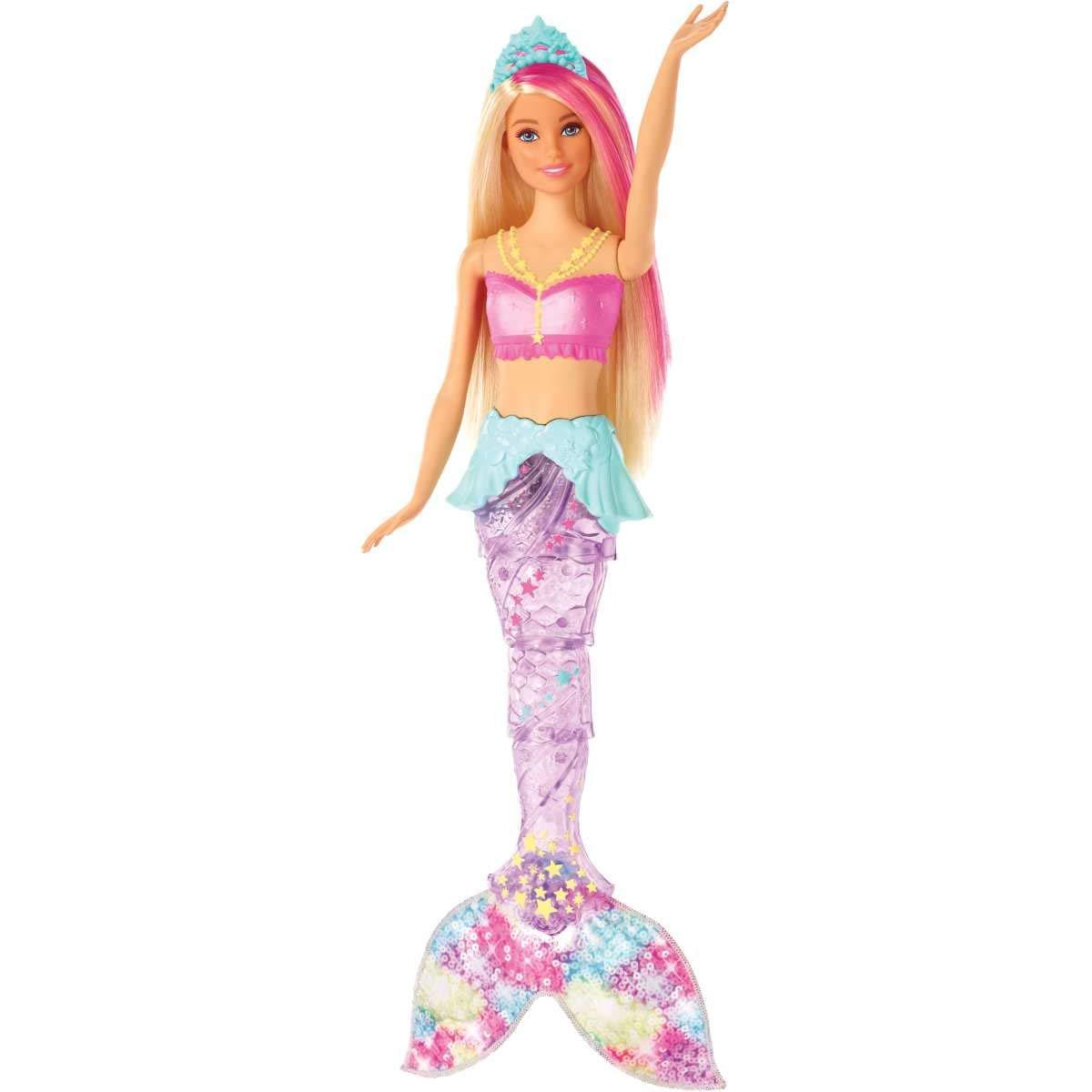 Барби Мерцающая русалочка Подводное сияние Яркие огоньки Barbie Dreamtopia Sparkle Mermaid