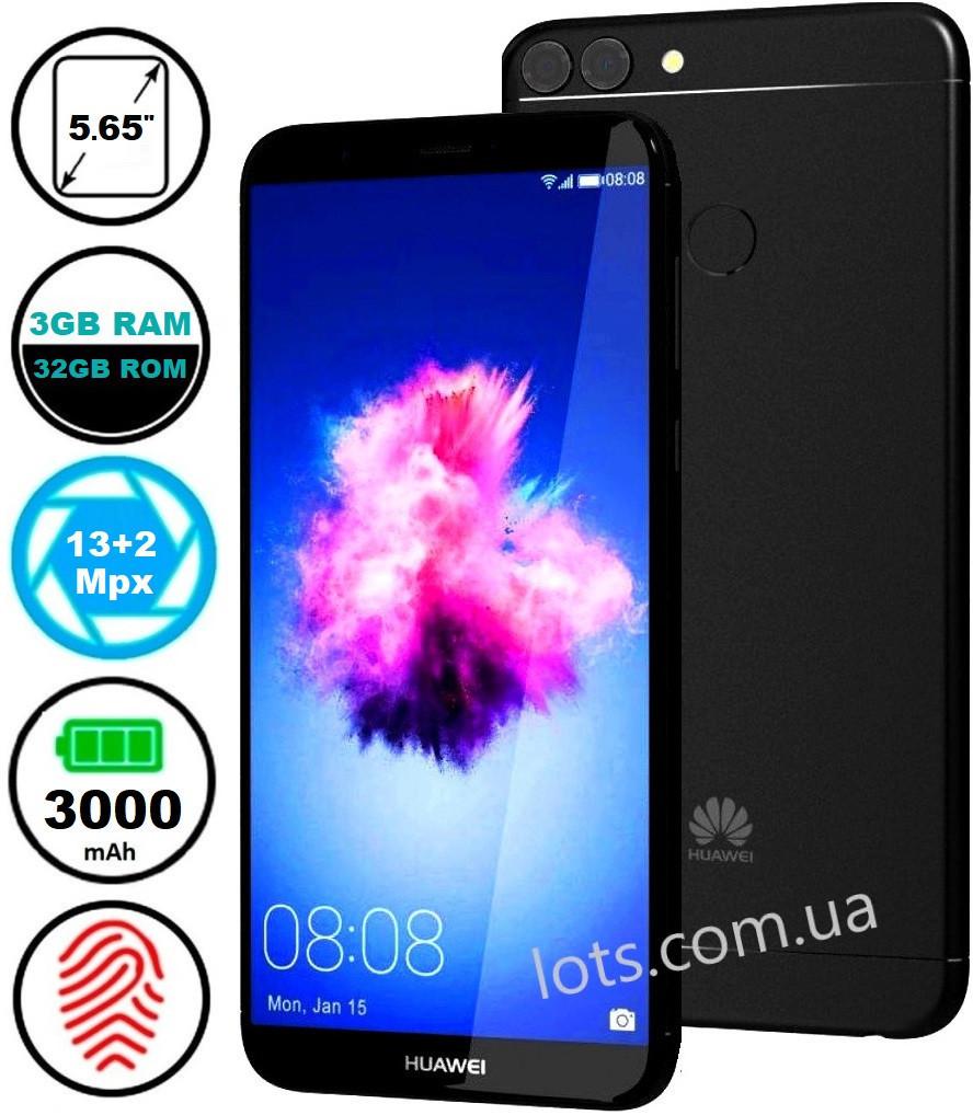 Смартфон Huawei P Smart 3/32Gb Black (Dual), Оригинальный телефон