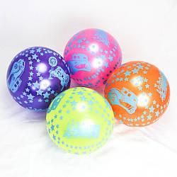 """М'яч дитячий (мяч детский) 9"""" BT-PB-0103 (300шт) транспорт 4 кольори, 60 г в сітці"""