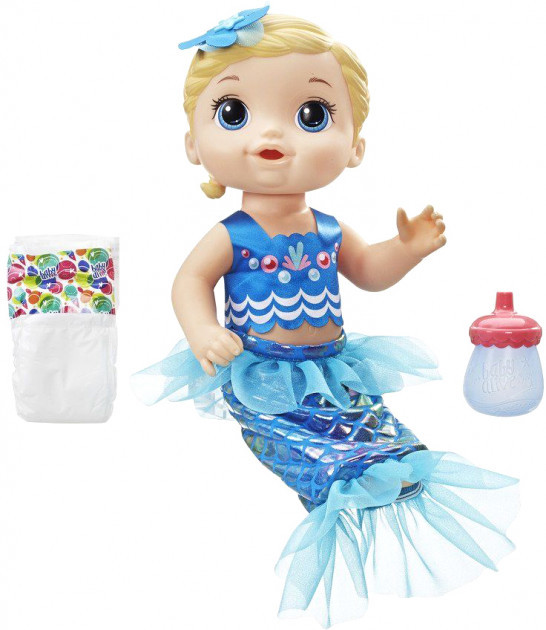 Кукла Hasbro Baby Alive Малышка-русалка блондинка