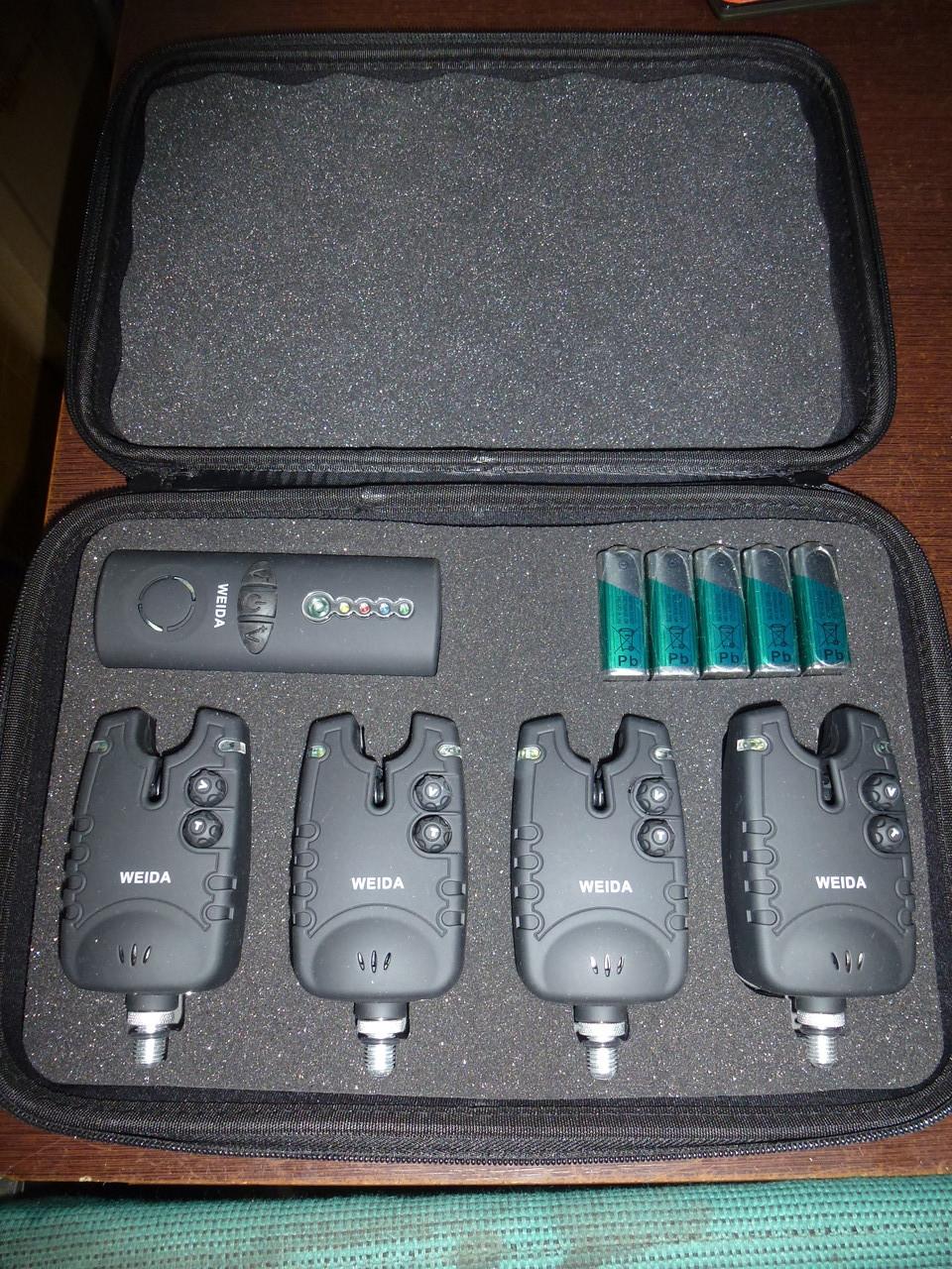 Набор сигнализаторов Weida 4 шт. + пейджер