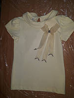 Блуза с коротким рукавом и бантиком 116 р.