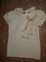 Блуза с коротким рукавом и бантиком 134 р.