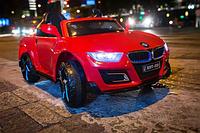 Детский электромобиль БМВ BMW красный (белый). M 3970 EBLR-3. Колеса EVA, кожаное сидение, свет фар.
