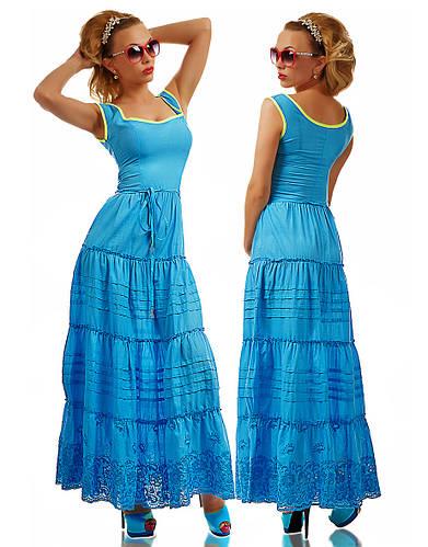 8ee76c99950 Летнее длинное женское платье