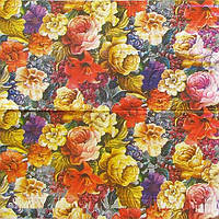 Редкая декупажная салфетка Цветы 001р