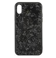 Чехол-накладка TPU+Glass Marble для IPhone X / Xs Black