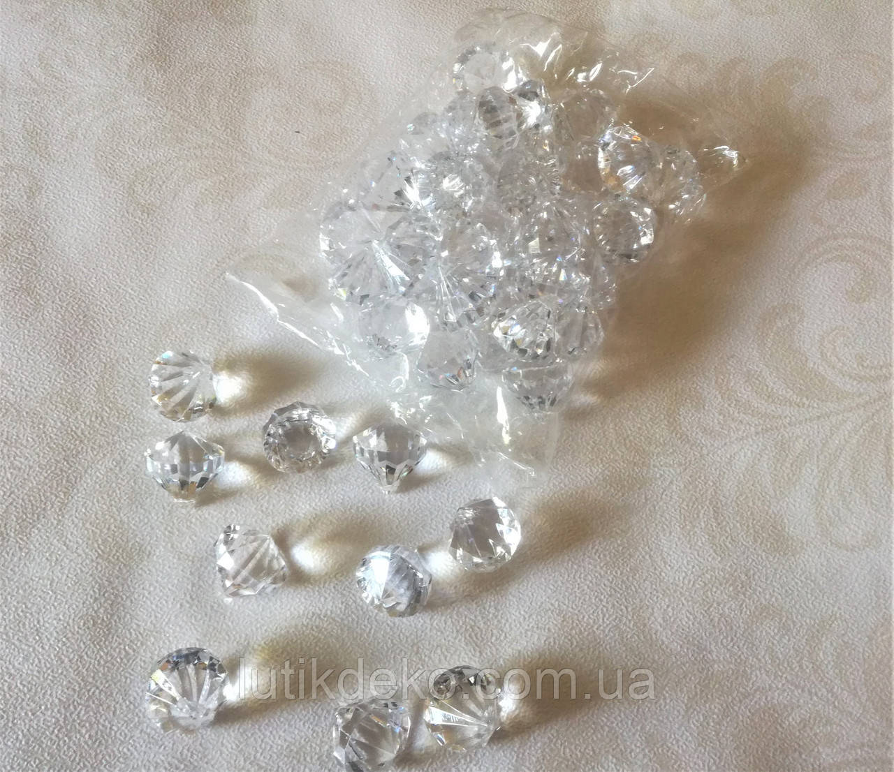 Кристали акрилові (500 г) для декору, великий діамант