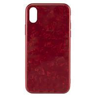 Чехол-накладка TPU+Glass Marble для IPhone X / Xs Red
