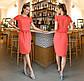 """Женское нарядное платье средней длины 4179 """"Софт Кокетка Гипюр"""" в расцветках, фото 2"""