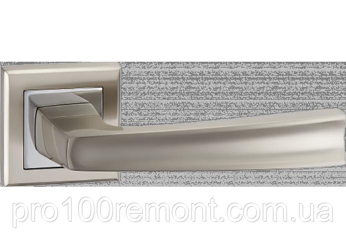 Ручка дверная на розетке МВМ RAY NUOVO A-1355 SN/CP матовый никель/полированный хром