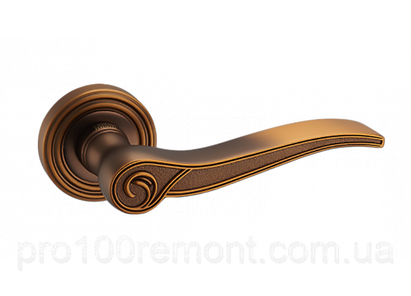 Ручка дверная на розетке МВМ A-2012 MACC матовая бронза, фото 2