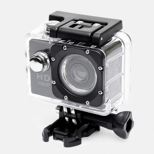 Экшн камера Full HD 1080P GoPro реплика + водонепроницаемая + набор креплений