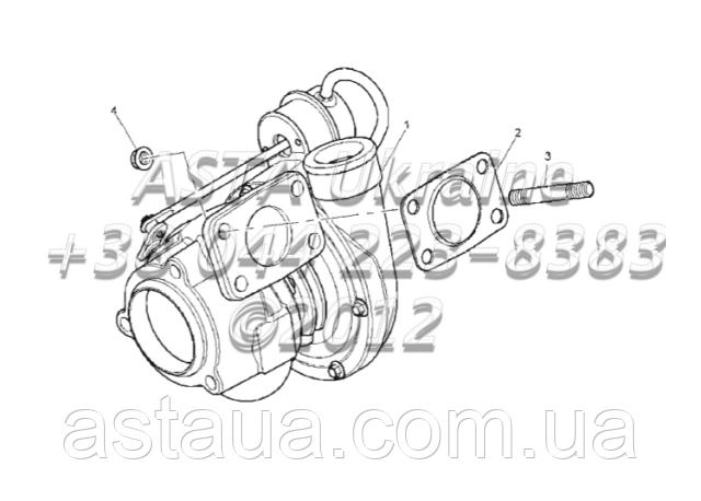 Турбонаддув двигуна 1104C-44T, RG38101 G1-20-1