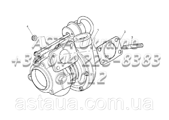 Турбонадув двигателя 1104C-44T, RG38101 G1-20-1