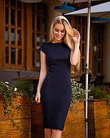 Платье футляр за платье футляр, темно-синий, фото 1