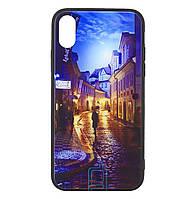 Чехол-накладка TPU+Glass Fantasy для IPhone X / Xs (City)
