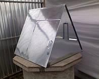Домик для колодца оцынкованый металичный.
