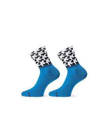 Шкарпетки ASSOS літо monogramSock_evo8 блакитний 39-42, фото 2