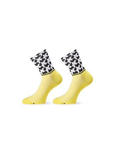 Шкарпетки ASSOS літо monogramSock_evo8 жовтий 43-46, фото 2