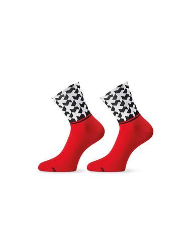 Шкарпетки ASSOS літо monogramSock_evo8 червоний 39-42, фото 2