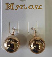 Серьги шарики из ювелирной бижутерии оптом. 469