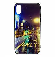 Чехол-накладка TPU+Glass Fantasy для IPhone X / Xs (Road)