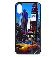 Чехол-накладка TPU+Glass Fantasy для IPhone X / Xs (Manhattan)