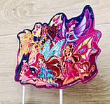 Топпер Winx на торт, топер Винкс в торт, детский топпер Winx, топперы из мультфильмов, Топпер Winx на палочках, фото 3