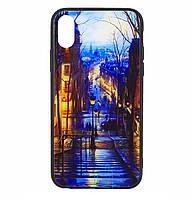 Чехол-накладка TPU+Glass Fantasy для IPhone X / Xs (Stairs)