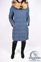 Пальто женское зимнее из плащевки (цв.т/зеленый) HOLDLUCK A83 Размер:40