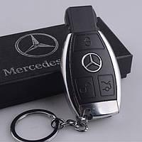 USB зажигалка электроимпульсная - брелок Mercedes-Benz в подарочной коробке