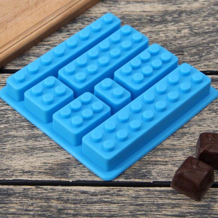 """Силиконовая форма для льда и шоколада """"Конструктор лего"""", 7 ячеек Лего Lego"""