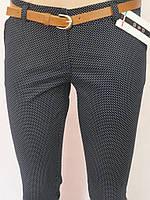 Трендовые женские брюки в горошек, фото 1