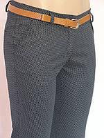 Трендовые женские брюки в горошек ботал