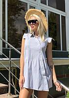 Рубашка с запахом асимметричный подол без рукавов С, М, Л, фото 1