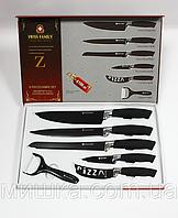 Набор ножейSWISS FAMILY c керамическим покрытием 6 предметов - 100% ЛУЧШАЯ ЦЕНА, фото 1