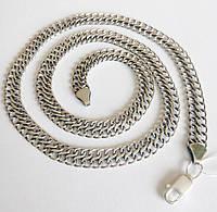 Серебряная мужская цепь весом 27,80 и длинной 55 см
